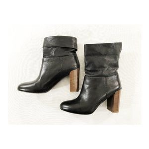 Vince Leather Ankle Platform Italy Made Boots